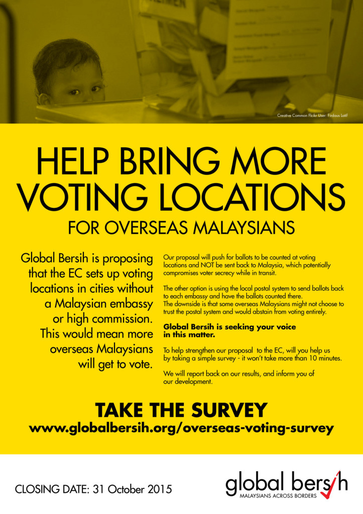 Overseas voting survey poster